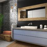 wizualizacja spokojnej łazienki